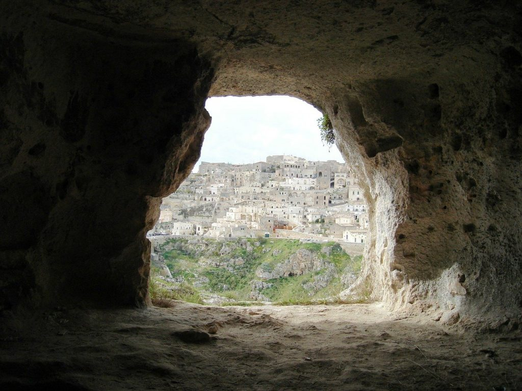 matera caves, cave, southern italy